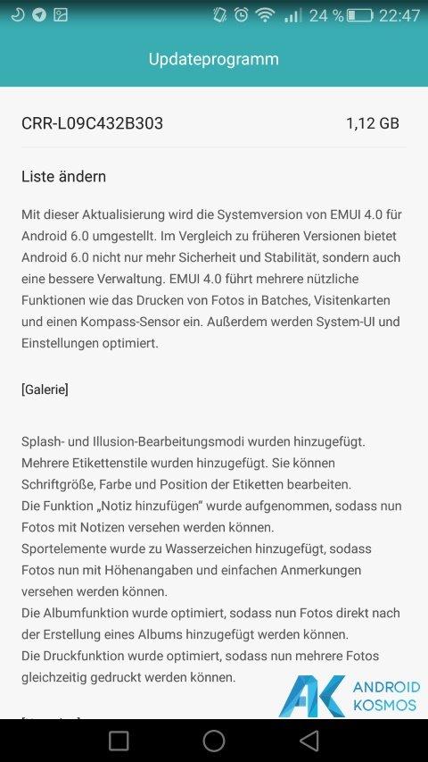 Huawei Mate S download der ersten Android 6.0 Marshmallow beta verfügbar 3