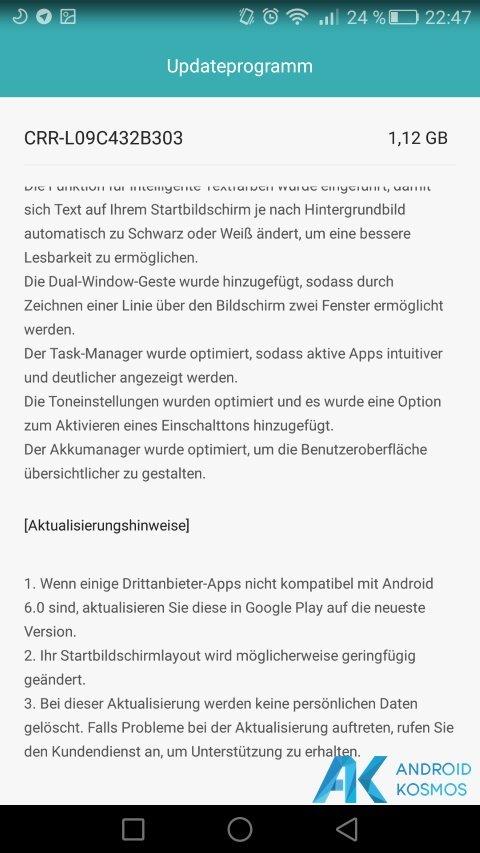 Huawei Mate S download der ersten Android 6.0 Marshmallow beta verfügbar 6