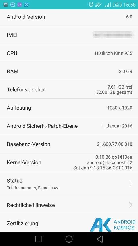 Huawei Mate S download der ersten Android 6.0 Marshmallow beta verfügbar 8