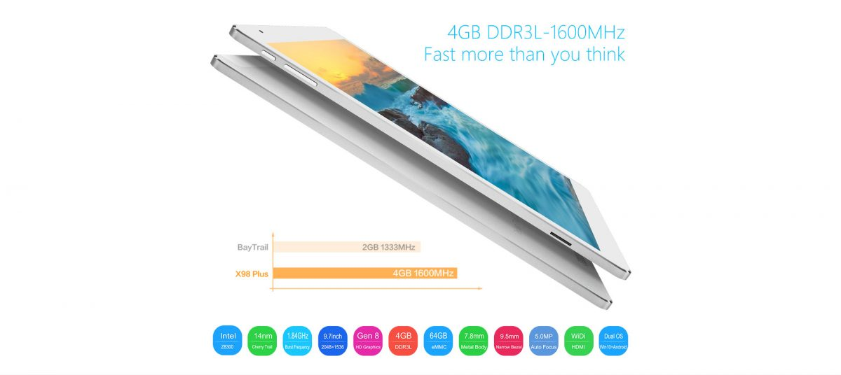 Teclast will spezielle Version des X98 Plus Dual-Boot Tablets für Europa bringen 14