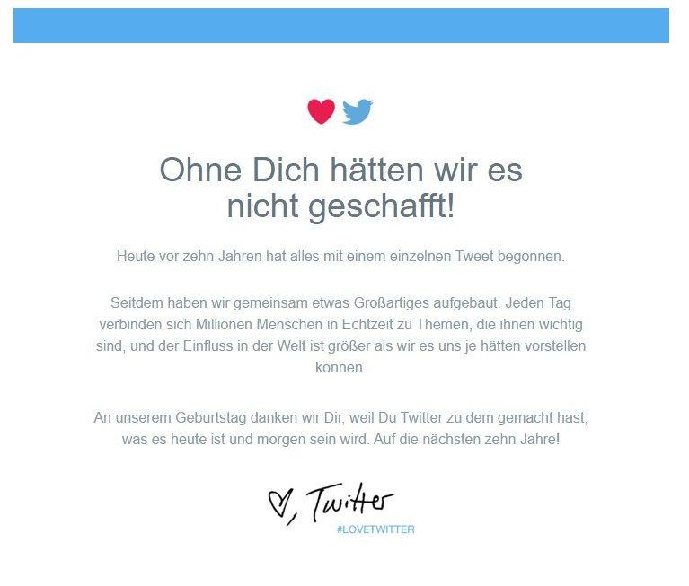 Twitter wird heute 10 Jahre alt - Herzlichen Glückwunsch #LoveTwitter 1