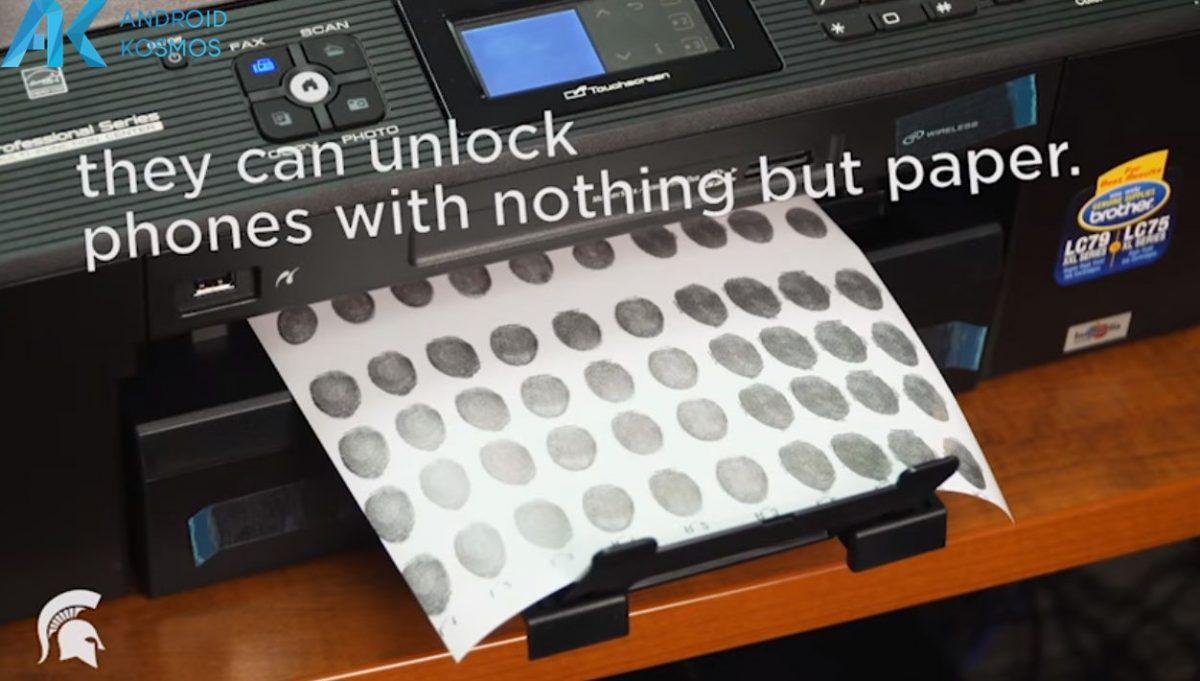 Fingerabdrucksensor einfach mit einen Tintenstrahldrucker geknackt 7