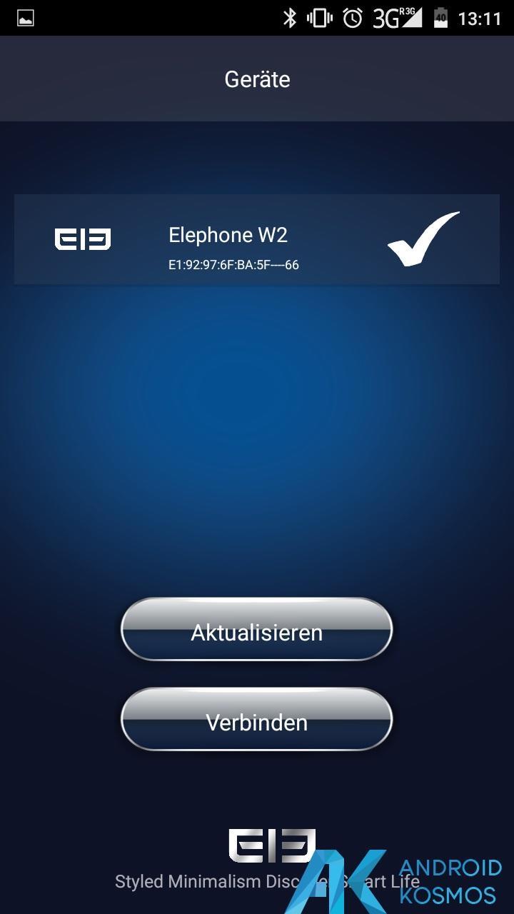 Test / Review: Elephone W2 Smartwatch - Stylisch und minimalistisch 27