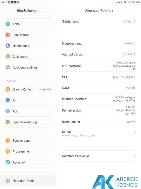 Test / Review: Xiaomi Mi Pad 2 – schickes Tablet im Metallgewand 32