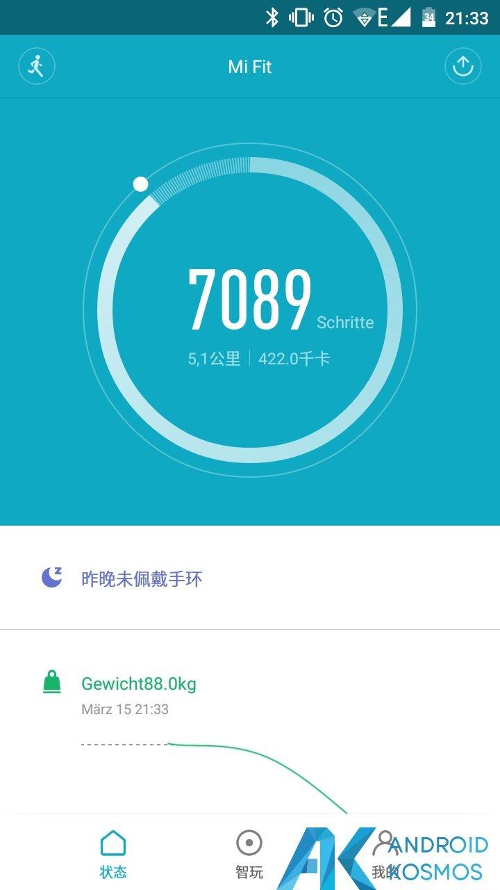Update!! MiFit App in der Version 2.0.1 seit gestern verfügbar 6