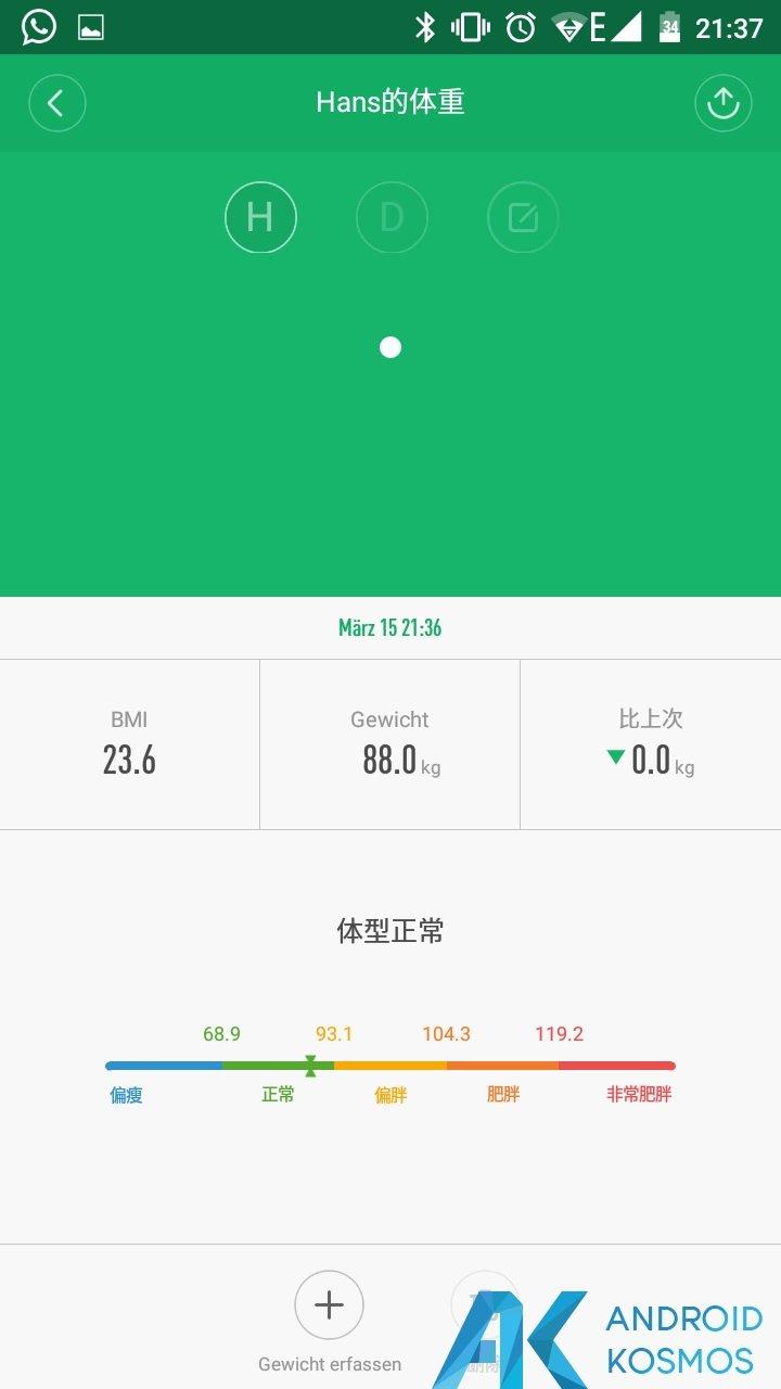 Update!! MiFit App in der Version 2.0.1 seit gestern verfügbar 5