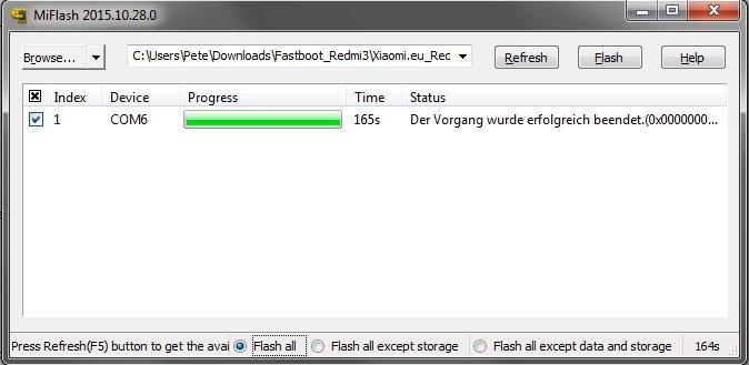 Howto: Xiaomi Redmi 3 deutsche Xiaomi.eu Rom installieren mit gesperrten Bootloader 23