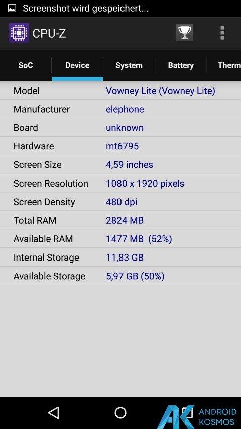 Test / Review: Elephone Vowney Lite - gutes Mittelklasse Smartphone mit Helio X10 119