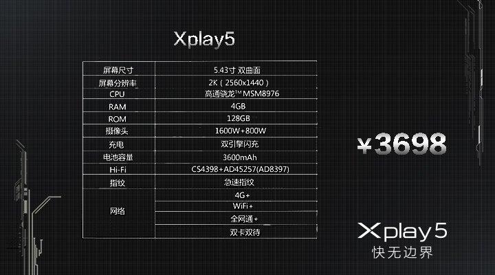 Vivo Xplay 5 - Smartphone mit 6GB RAM offiziell vorgestellt 11