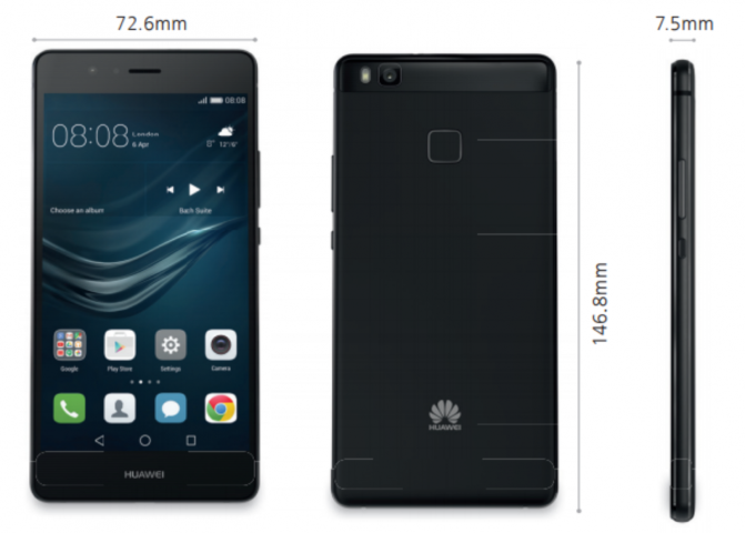 Huawei P9 Lite Abmessungen