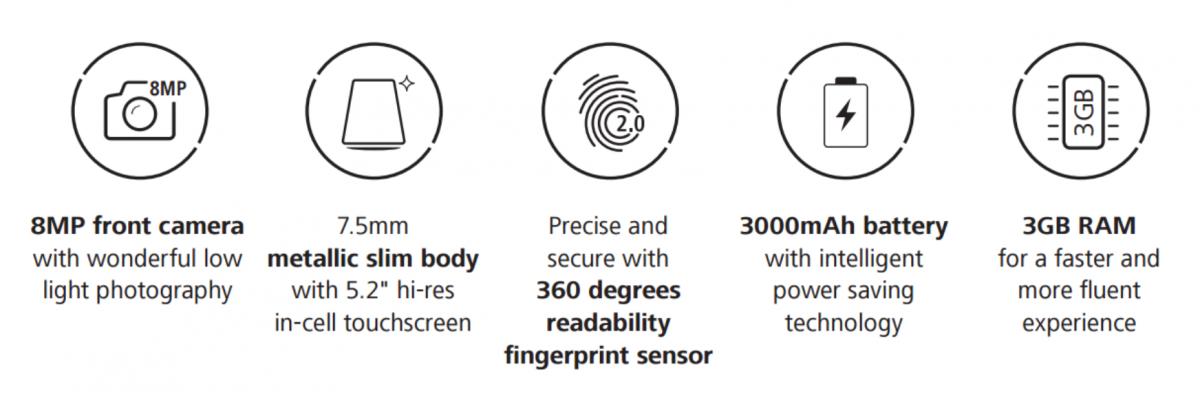 Huawei P9 Lite Daten)