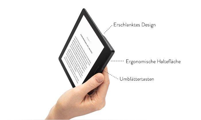 Amazon stellt seinen neuen E-Reader Kindle Oasis vor - beginnt bei 289 Euro. 2
