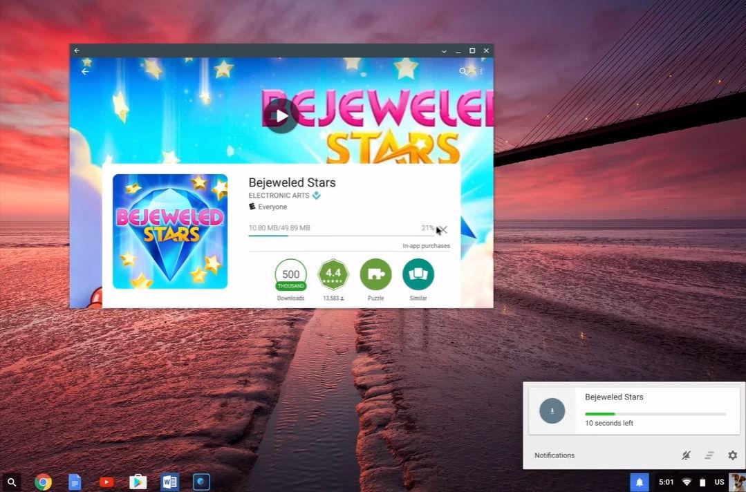 Play Store mit Android Apps bald auch auf ChromeOS ausführbar 5