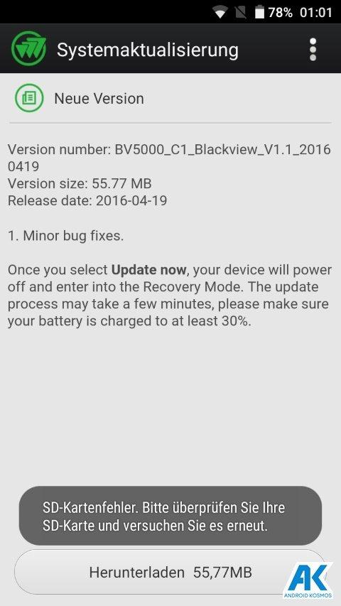 Test / Review: Blackview BV5000 - widerstandsfähiges Outdoorhandy mit IP67 Zertifizierung 153