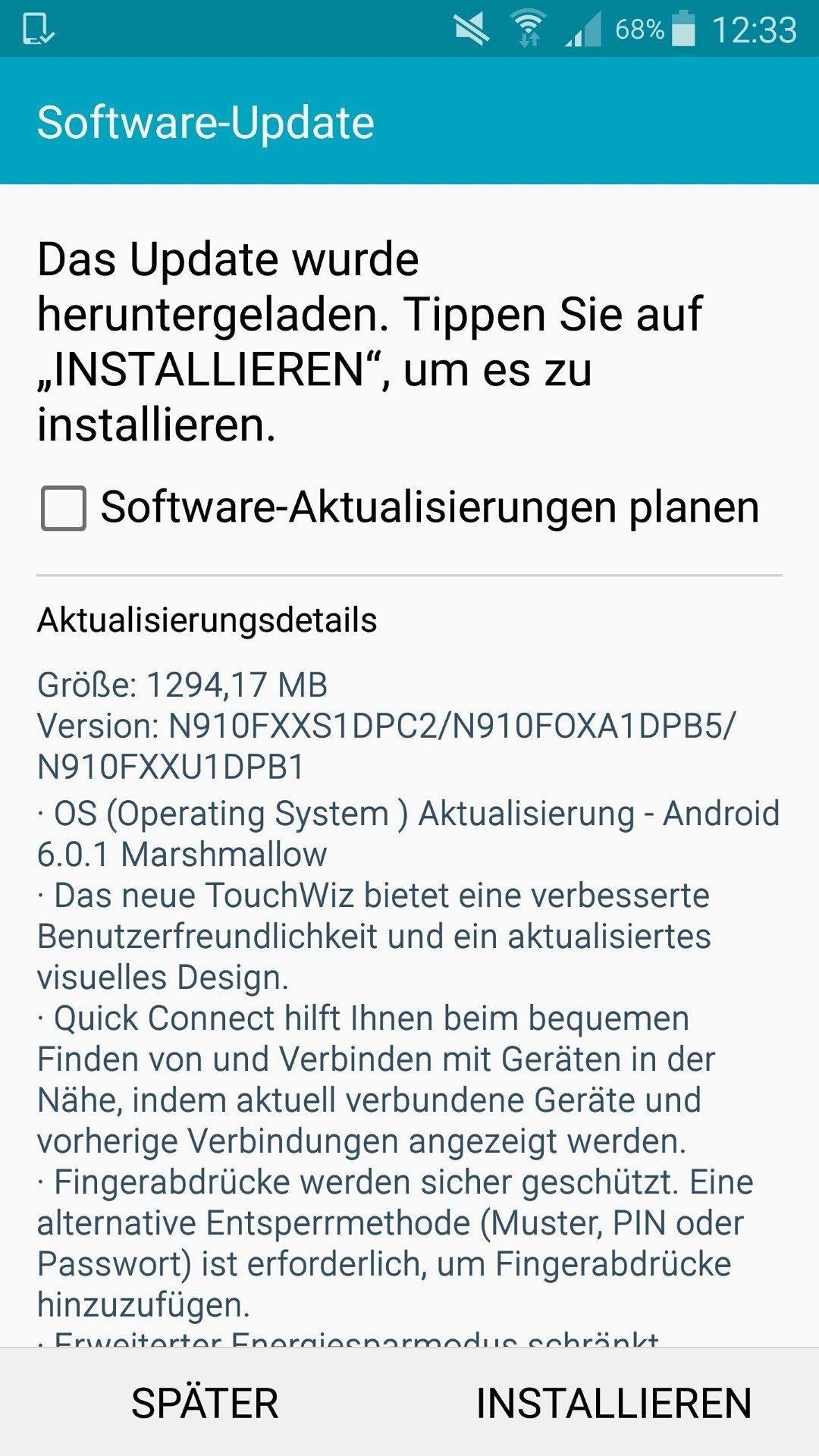 Galaxy Note 4 erhält in Deutschland Android 6.0.1 Marshmallow - Die Neuerungen im Überblick 1