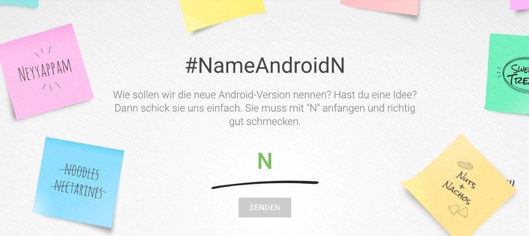 Google bittet um Namensvorschläge für Android N
