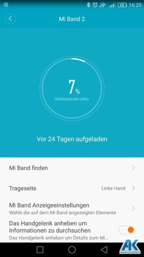 AndroidKosmos | Testbericht / Review / Anleitung / Video: Xiaomi Mi Band 2 Fitnesstracker mit Mi Fit App 13