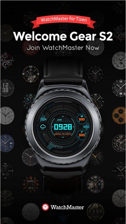 Ziffernblätter-App von Watchmaster jetzt auch für die Gear S2 TizenOS 4