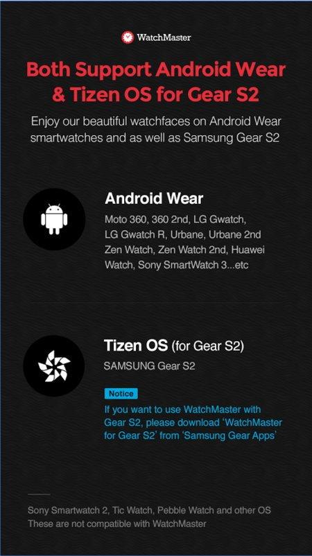 Ziffernblätter-App von Watchmaster jetzt auch für die Gear S2 TizenOS 6