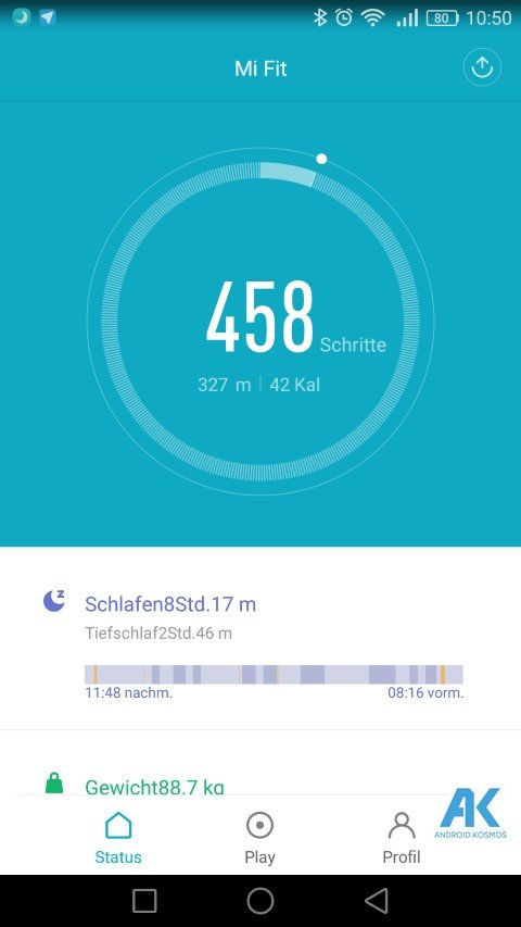 AndroidKosmos | Testbericht / Review / Anleitung / Video: Xiaomi Mi Band 2 Fitnesstracker mit Mi Fit App 47