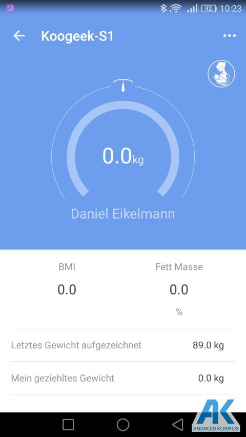 Test / Review: Koogeek Smart Waage mit Gewicht, BMI, Muskel, Wasser, Fettgehalt 29