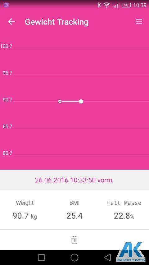 Test / Review: Koogeek Smart Waage mit Gewicht, BMI, Muskel, Wasser, Fettgehalt 44