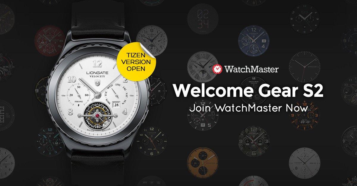 Ziffernblätter-App von Watchmaster jetzt auch für die Gear S2 TizenOS 3