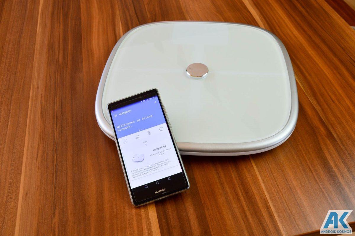 Test / Review: Koogeek Smart Waage mit Gewicht, BMI, Muskel, Wasser, Fettgehalt 20