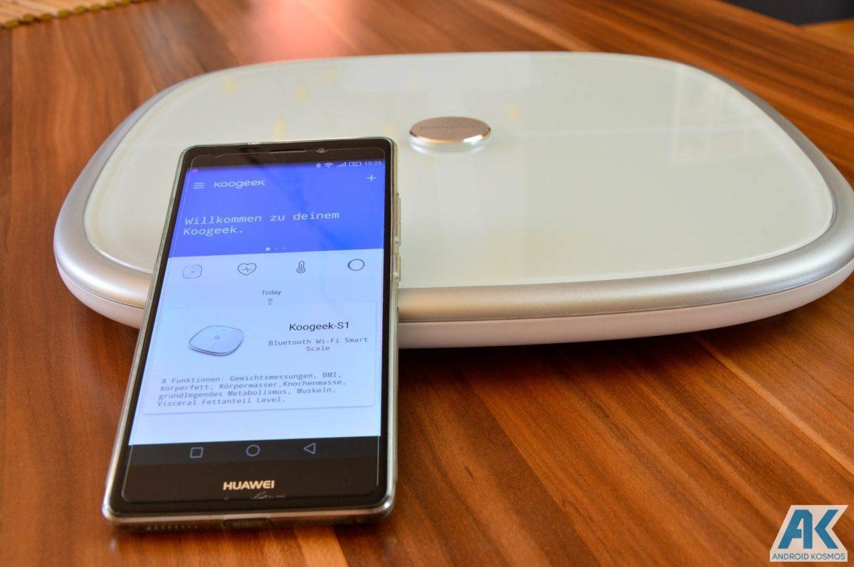Test / Review: Koogeek Smart Waage mit Gewicht, BMI, Muskel, Wasser, Fettgehalt 22