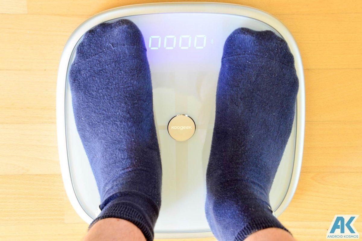 Test / Review: Koogeek Smart Waage mit Gewicht, BMI, Muskel, Wasser, Fettgehalt 19