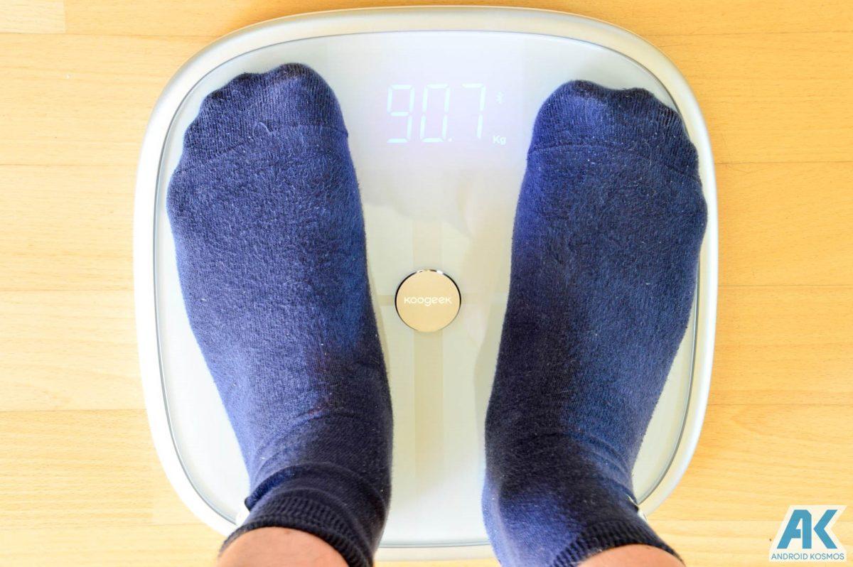 Test / Review: Koogeek Smart Waage mit Gewicht, BMI, Muskel, Wasser, Fettgehalt 18