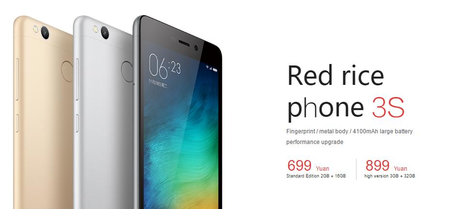 Xiaomi Redmi 3S mit Snapdragon 430 und Fingerabdrucksensor vorgestellt 2