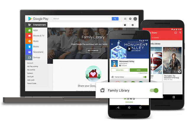 AndroidKosmos | Play Store: Family Library und neue Kategorien 1