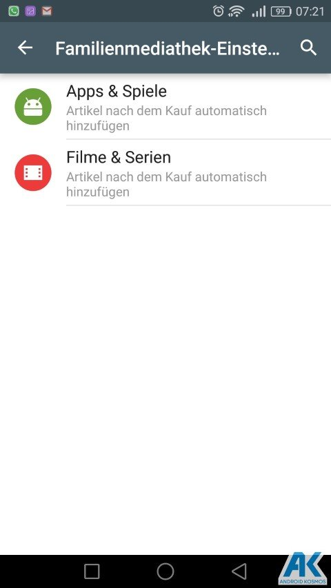 AndroidKosmos | Play Store: Family Library und neue Kategorien 7