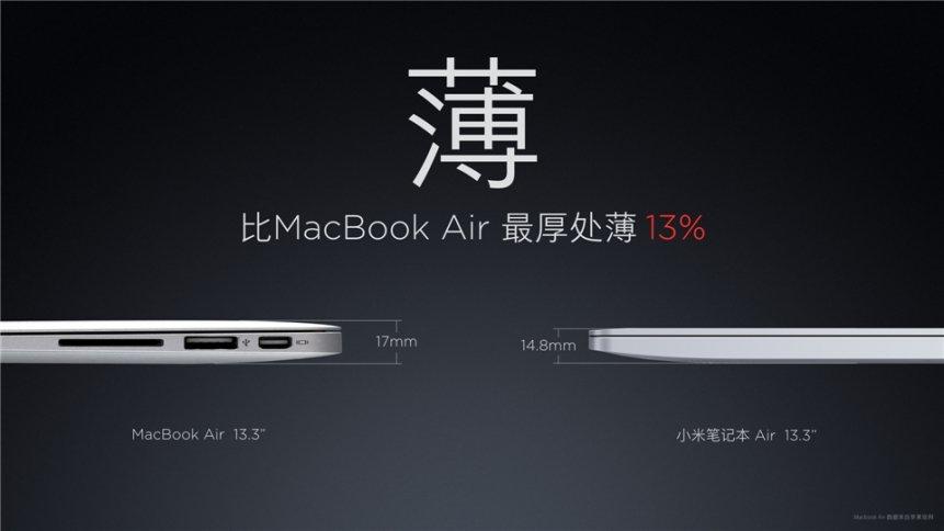 """Xiaomi """"Mi Air"""" Notebook 13,3 Zoll und 12,5 Zoll offiziell vorgestellt 4"""
