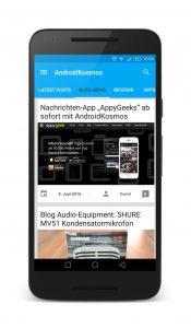 AndroidKosmos | AndroidKosmos Free und Donate App ab sofort im Google Play Store verfügbar 9
