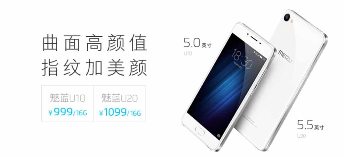 Meizu U10 und U20: zwei neue Smartphones mit YunOS vorgestellt 2