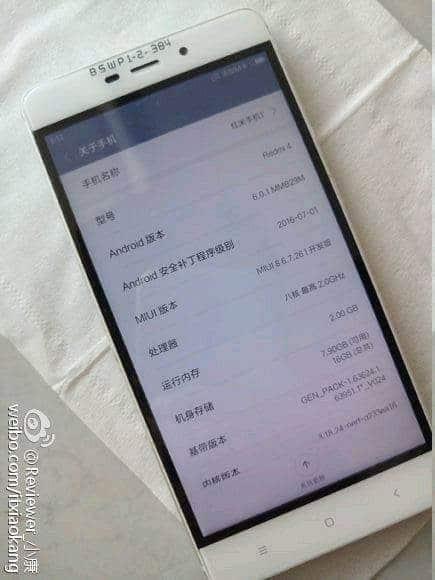 AndroidKosmos | Xiaomi Redmi 4: Erster leaks zeigen das neue Smartphone 2