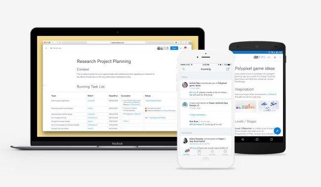 Dropbox Paper als Alternative zu Google Docs verfügbar 1