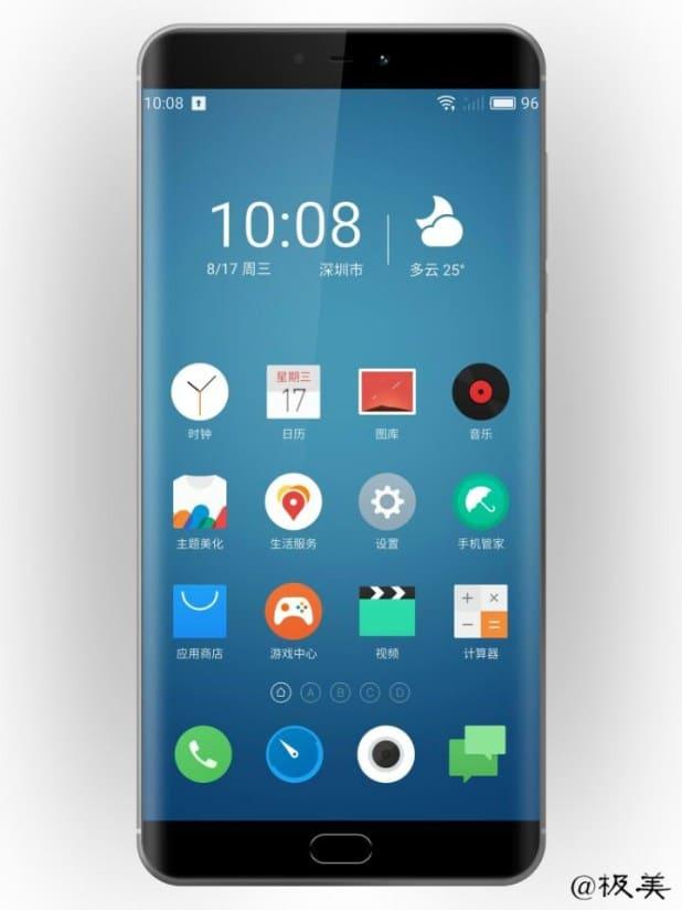 AndroidKosmos | Meizu Pro 7: Erster Render zeigt abgerundete Ecken (EDGE) und Dual-Kamera 5