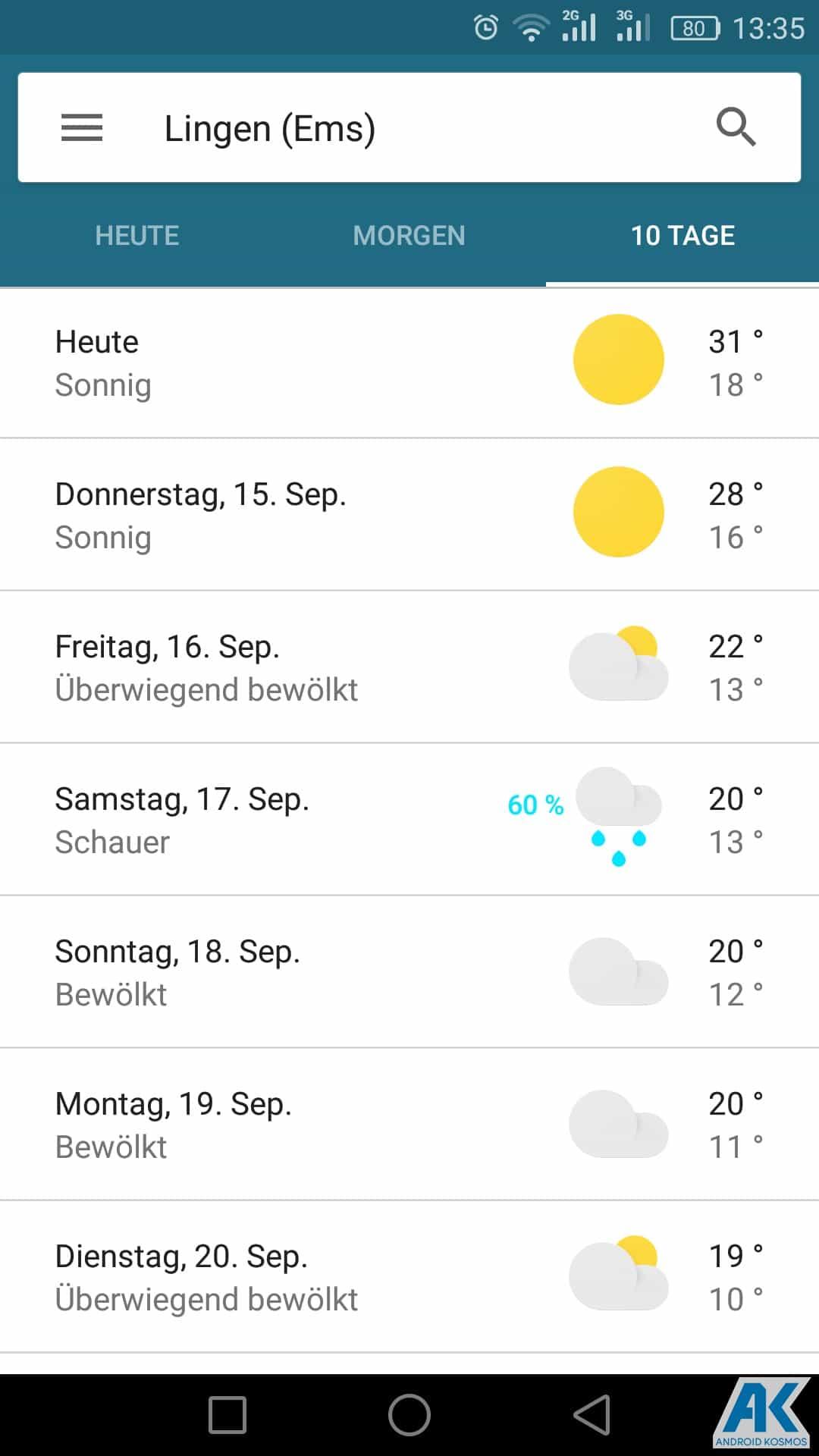 AndroidKosmos | Google Now Wetter-Karten jetzt auch für deutsche Nutzern verfügbar 8