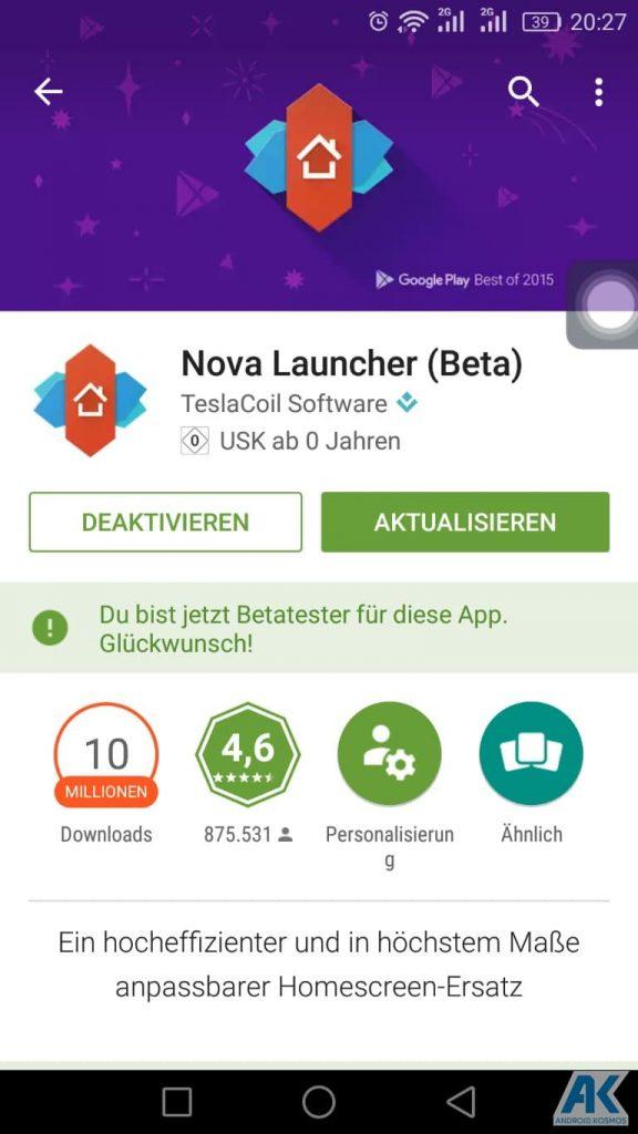 AndroidKosmos | Nova Launcher 5.0: neues Pixel-Style ab jetzt in der Beta enthalten 2