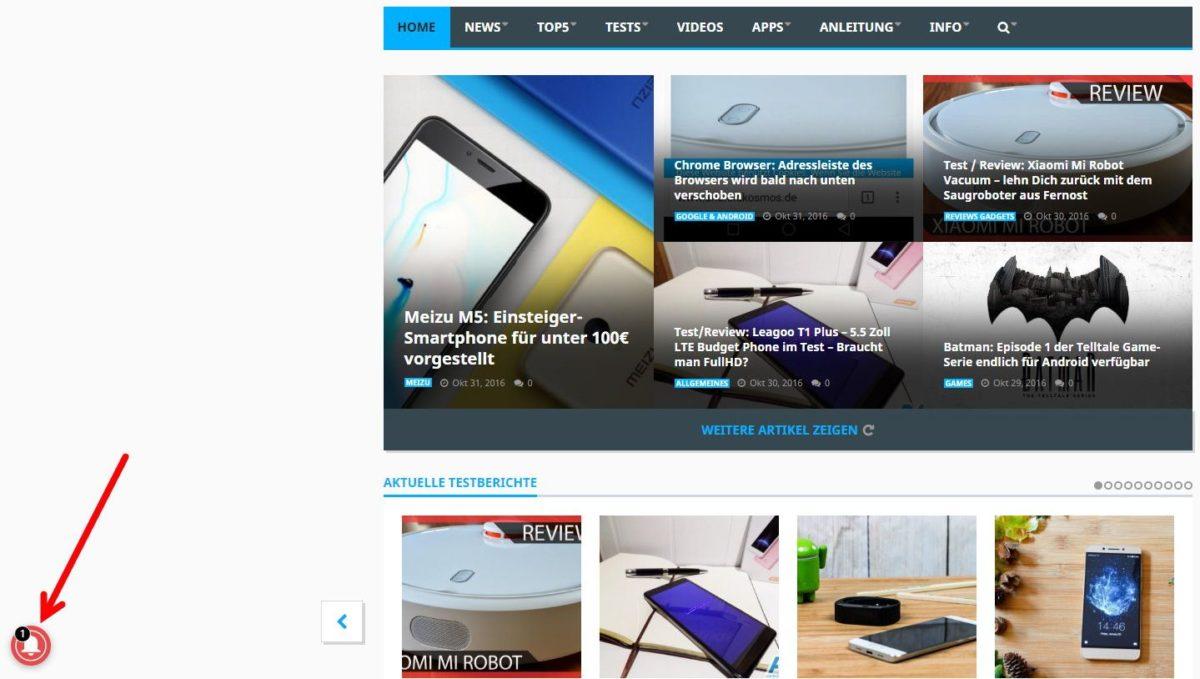 AndroidKosmos.de - Benachrichtigungen als Browser-Push einstellen 10