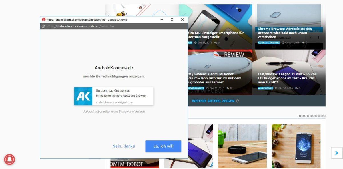 AndroidKosmos.de - Benachrichtigungen als Browser-Push einstellen 12