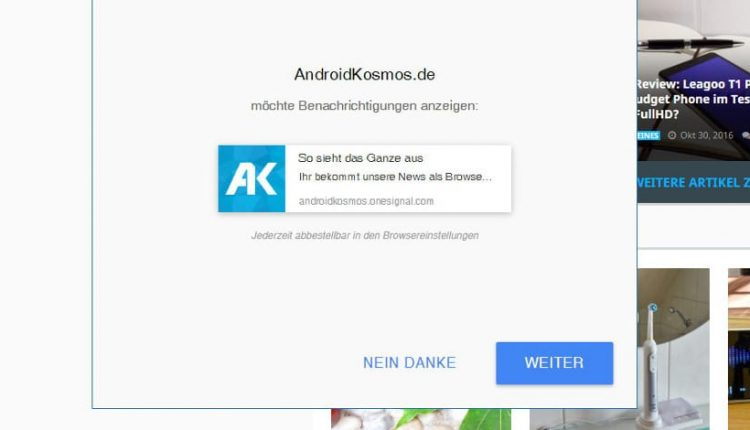 AndroidKosmos.de - Benachrichtigungen als Browser-Push einstellen 3