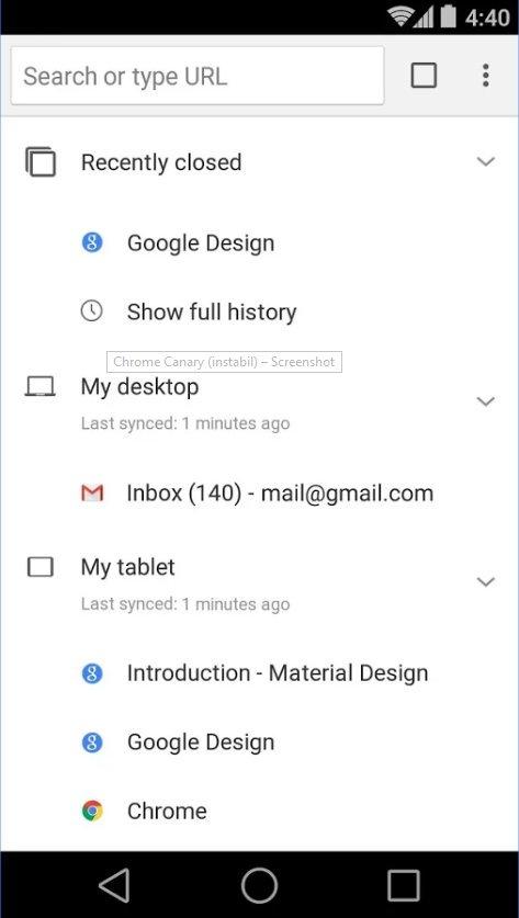 Google Chrome Canary: erste Browser App für Android veröffentlicht 4