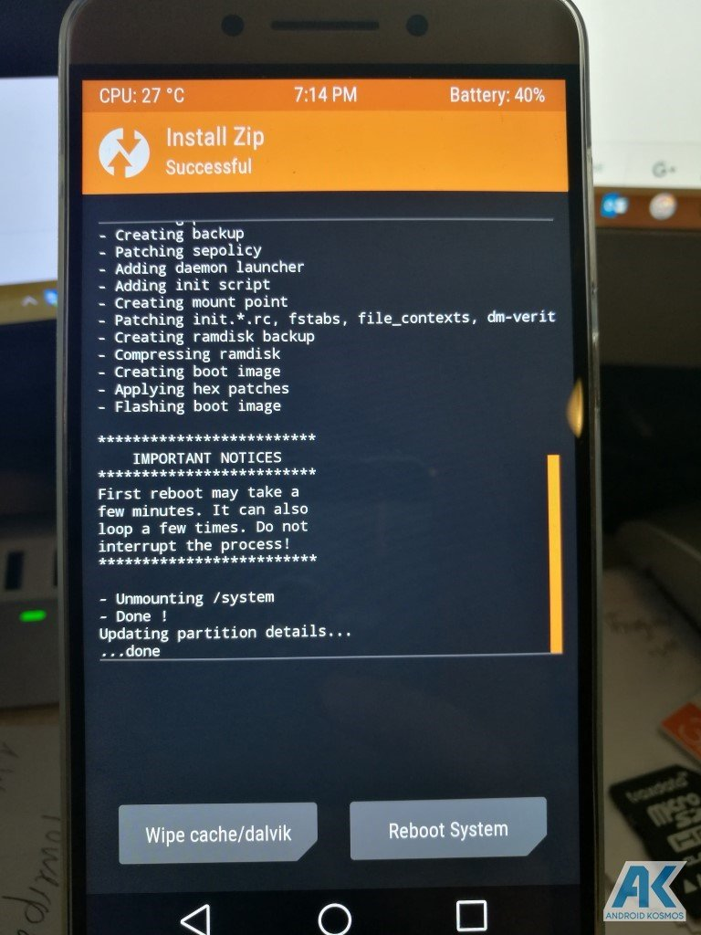 Anleitung/HowTo: LeEco Le Pro 3 - TWRP Recovery und Flash Root 7