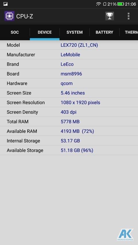AndroidKosmos | Test / Review: LeEco Le Pro 3 - das neue Flaggschiff mit mächtig Power 76