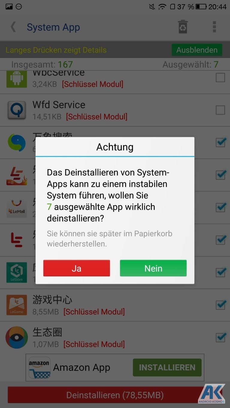 AndroidKosmos | Anleitung/HowTo: LeEco Le Pro 3 - TWRP Recovery und Flash Root 23