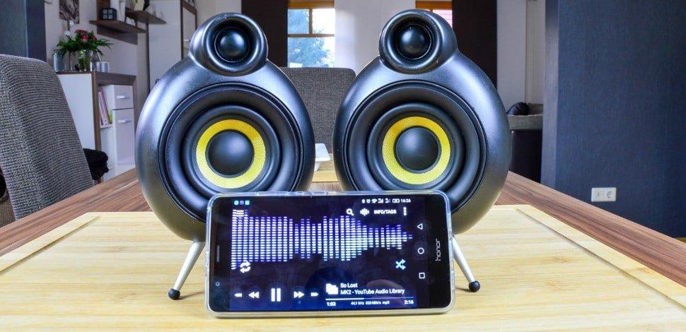 Scandyna PodSpeakers MicroPod Test: futuristischer Bluetooth Lautsprecher 1